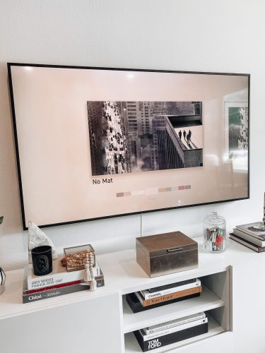 Samsung The Frame TV mat options