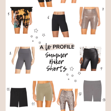 Sharing a roundup of the cutest summer biker shorts in every color, length, and price range today in an easy to shop collage.