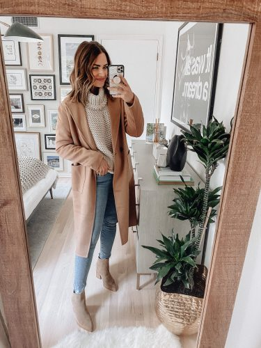 Sharing 12 ways to style a classic camel coat that I got from the 2020 Nordstrom Anniversary Sale including casual, going out, & workwear looks.
