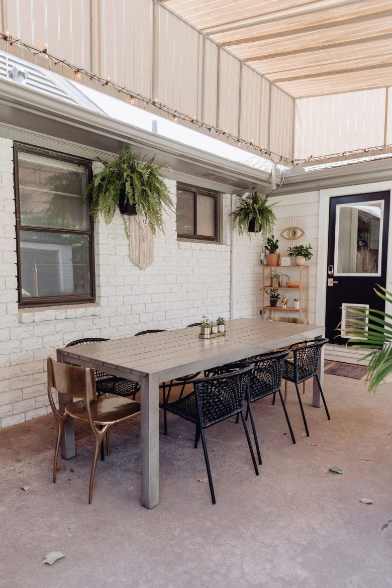 Finally sharing our patio reveal featuring tons of great patio furniture & outdoor decor to inspire you to turn your backyard into your own little oasis.