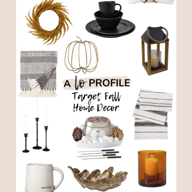 Sharing all the cutest Target fall home decor in an easy to shop collage to help you easily get your house ready for fall while staying on budget.