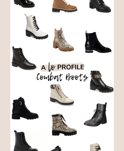 Sharing an easy to shop collage featuring combat boots for fall with pairs in every style, price range, & color to help you be on trend this season.
