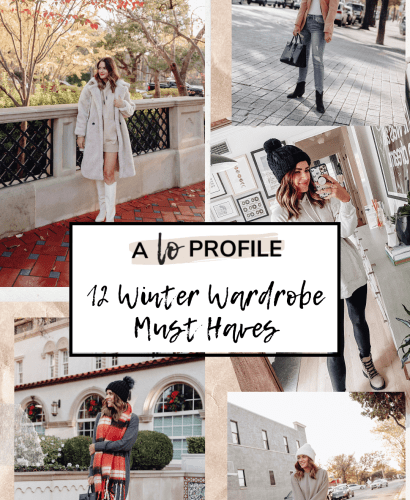 Sharing a roundup of 12 winter wardrobe must haves with styled outfits & several other options to shop in each of the categories.