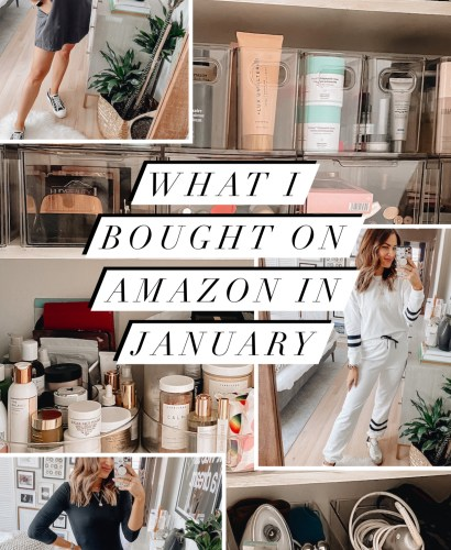 Sharing a roundup of what I bought on Amazon in January featuring tons of fashion finds, home, beauty, & other random products.