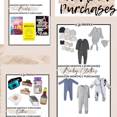 Sharing a roundup of what I bought on Amazon in March featuring books, baby gear, lifestyle & home products, clothes & more.