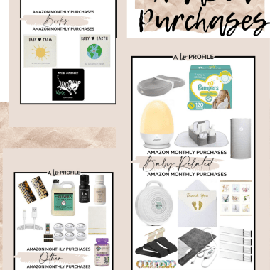 Sharing a roundup of what I bought on Amazon in Aprili so you all can browse all of my random April Amazon purchases in each category.