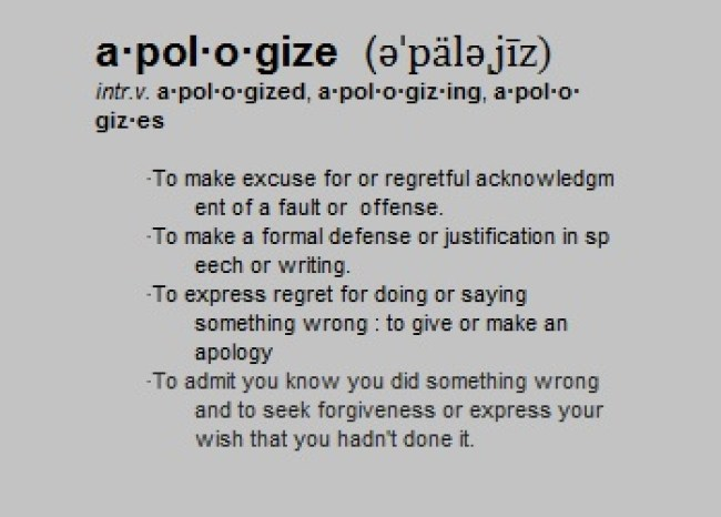 Apologize defined
