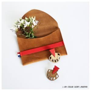 Collab Studio Martho Alory pochette et boucles d'oreilles