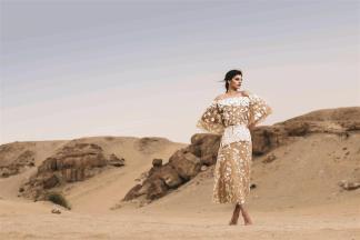 TOP & SKIRT: Razan Alazzouni - Al Ostoura Thuraya Mall