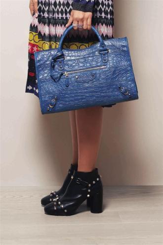 Dress: Mary Katrantzou Bag & Shoes: Balenciaga Ring: Salvini