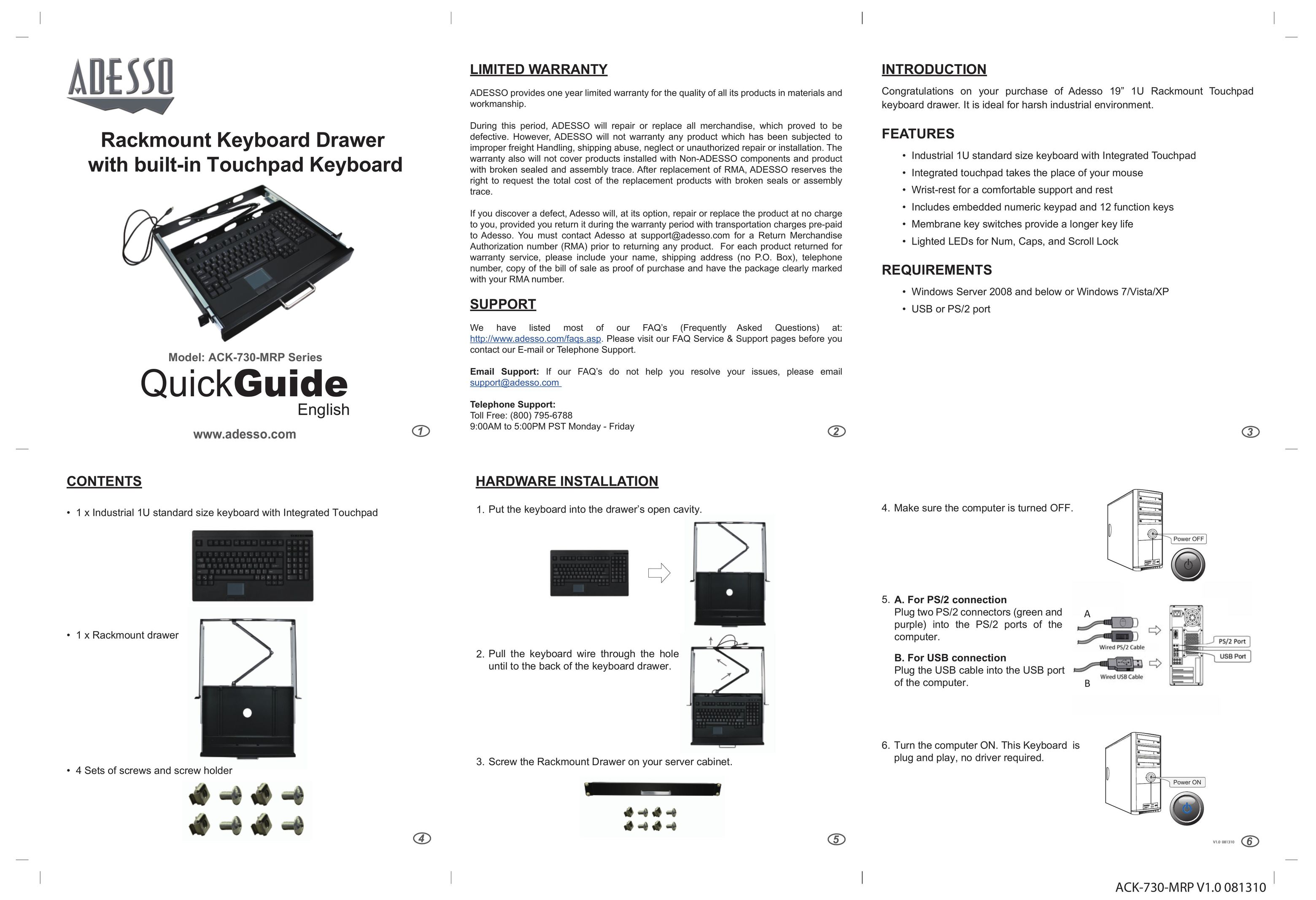 User manuals for Computer Keyboard