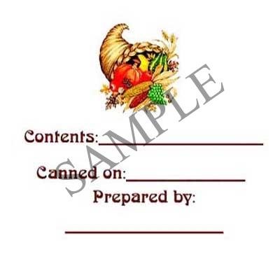 Sample Harvest Round Canning Label #L100