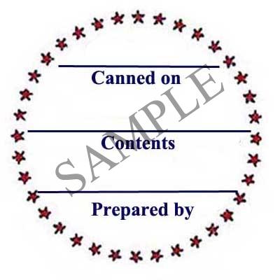 Star Border Round Canning Label #L126