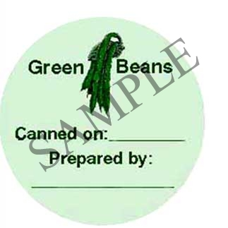 Green Beans Canning Label #147