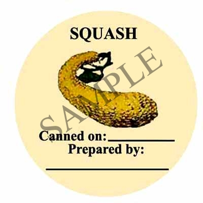 Squash Canning Label #154