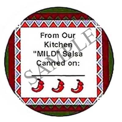 MILD Salsa Round Canning Label #L157