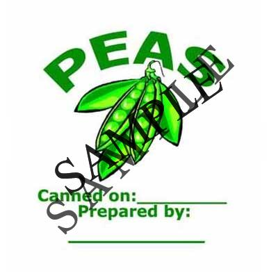 Peas Round Canning Label #L209