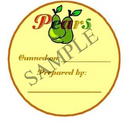 Pears Round Canning Label #L214