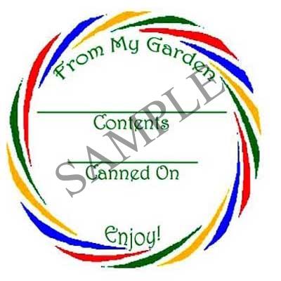 Multicolor Swirl Round Canning Label #L248