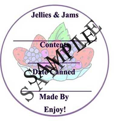 Jellies and Jams Round Canning Label #L255