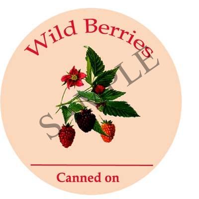 Wild Berries Round Canning Label #L264