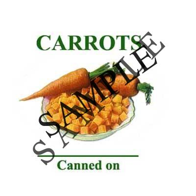 Carrots Round Canning Label #L278