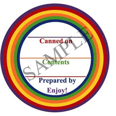 Rainbow Collection Round Canning Label #L281