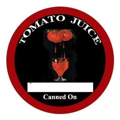 Tomato Juice Round Round Canning Label #L345