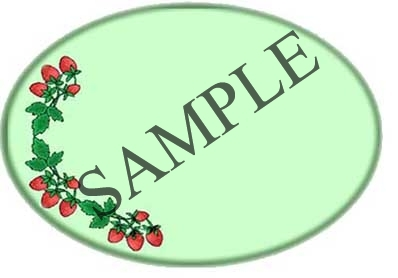 Strawberry Oval Canning Label #OV313