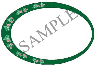 Flower Blank Oval Canning Label #OV315B