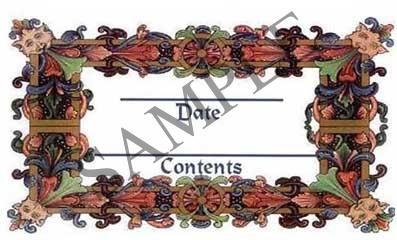Ornate Leaf Border Rectangle Canning Label #RCT104