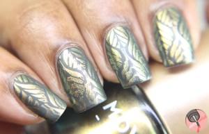 MoYou London + OPI gold leaf stamping