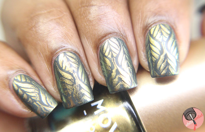 MoYou London + OPI gold leaf stamping