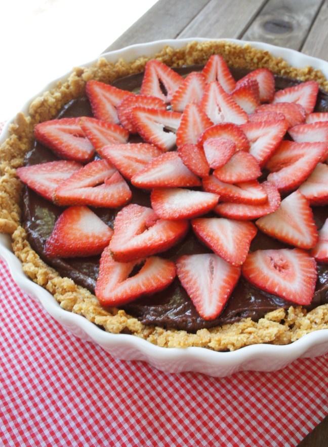 Strawberry Nutella Tart