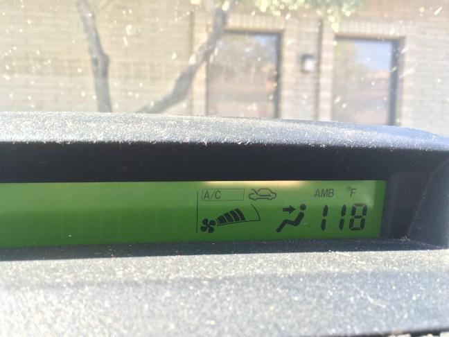 118 degrees