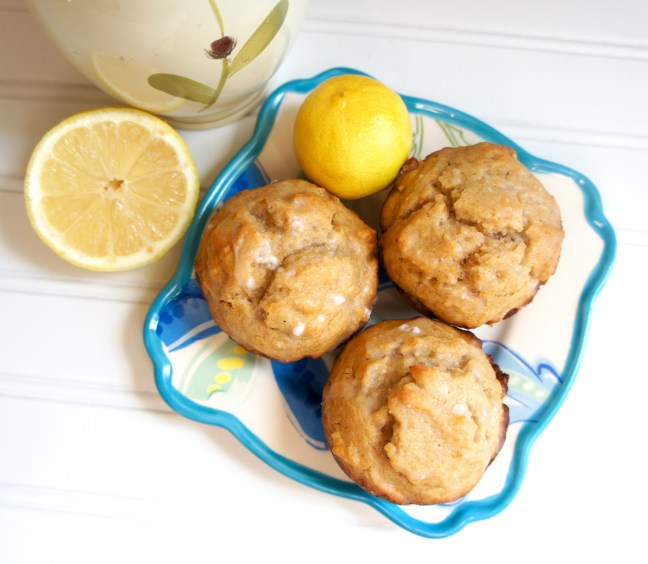Lemon Honey Olive Oil Muffins