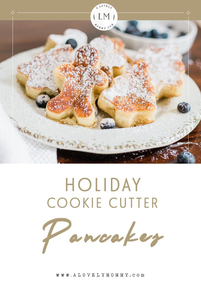 holiday cookie cutter pancakes