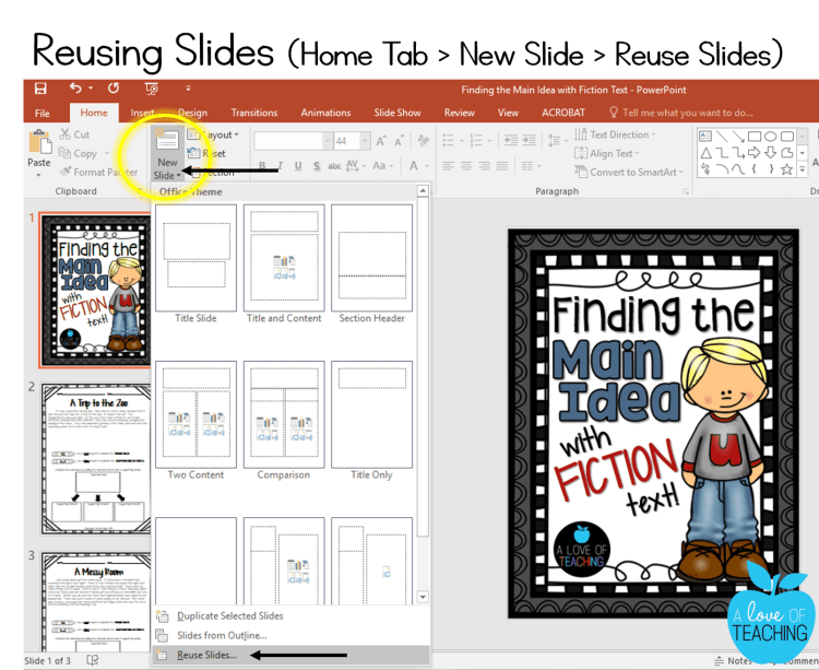 PowerPoint: Reusing Slides