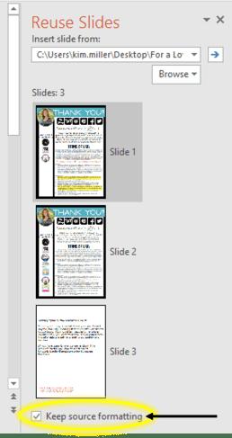 PowerPoint: Reusing Slides 4