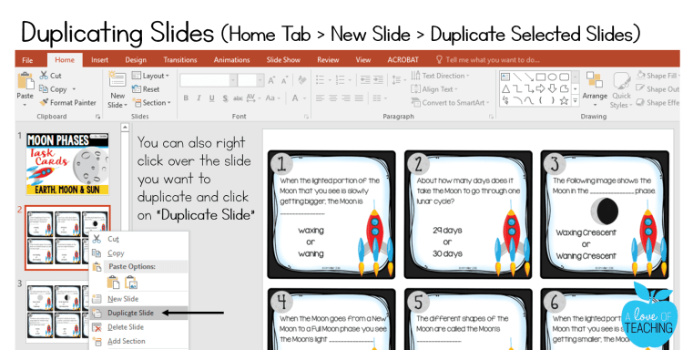 PowerPoint: Duplicating Slides