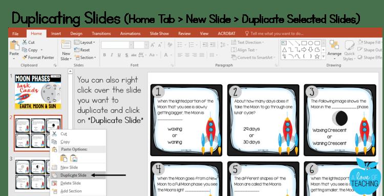 PowerPoint: Duplicating Slides