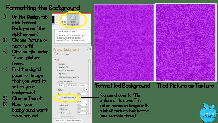 Formatting Background 2