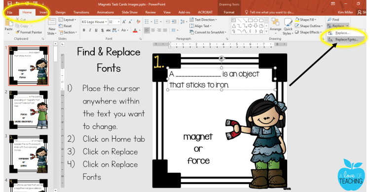 Find and Replace Fonts in PowerPoint