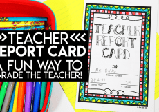 Teacher Report Card: A Fun Way to Grade the Teacher