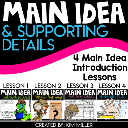 Main Idea 4 Lessons Bundle