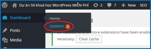 Thường xuyên cập nhật phiên bản mới của WordPress