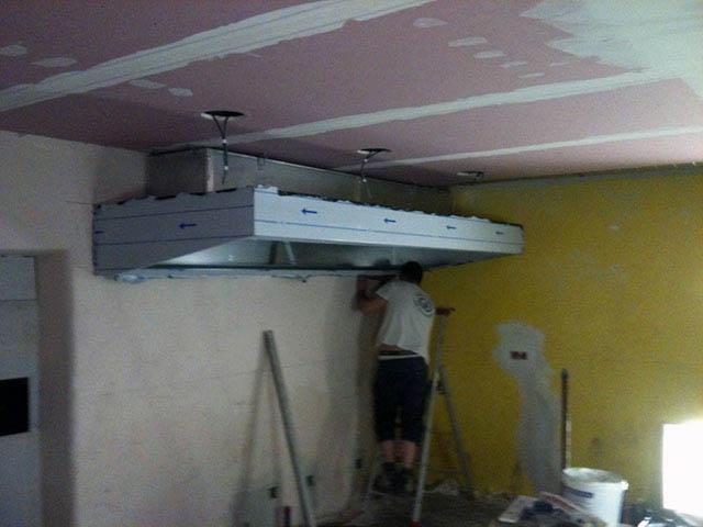 faux plafond cuisine professionnelle