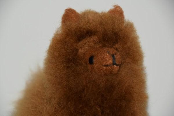alpaca 15 cm kop bruin