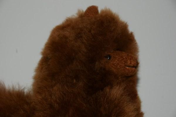 alpaca 30 cm bruin kop