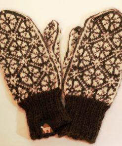 fausthandschuhe norweger dunkelbraun 24cm